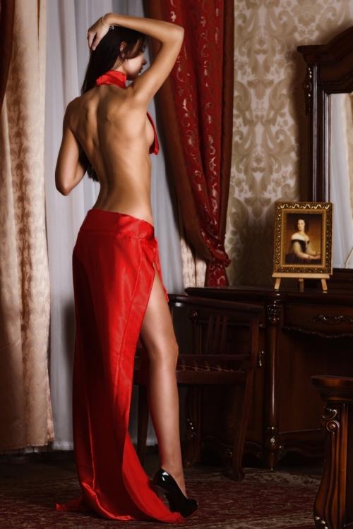 vestido rojo de noche, mujer sexy, mujer atractiva